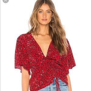 Lover + friends red print shirt from REVOLVE